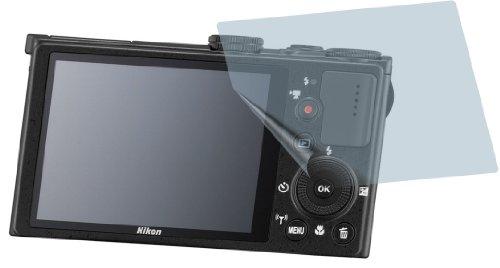 2x Nikon Coolpix P340 ENTSPIEGELNDE PREMIUM Displayschutzfolie Bildschirmschutzfolie Schutzhülle Displayschutz Displayfolie Folie