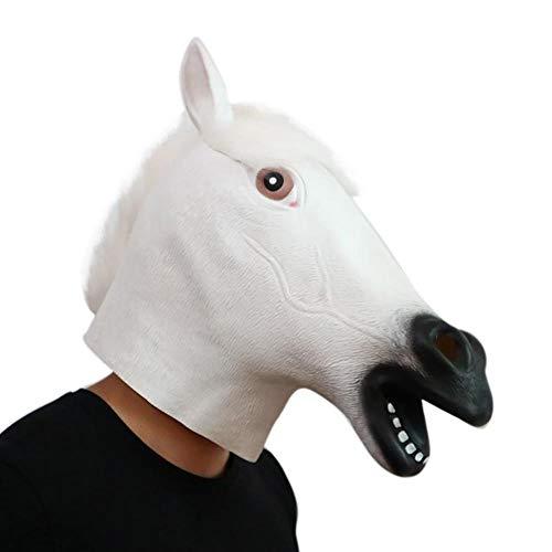 Wddqzf Dekoration Statuen Mode Halloween Maske, Neue Neuheit Fantastische Whimsey Kostüm Party Dekoration Latex Mark Halloween Maske