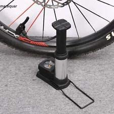 Breewell NewMini Aluminum Alloy Bicycle Foot Air Pump with Pressure Gauge Portable Bike Floor Pump (Black)