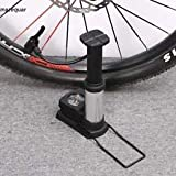 #5: Breewell NewMini Aluminum Alloy Bicycle Foot Air Pump with Pressure Gauge Portable Bike Floor Pump (Black)