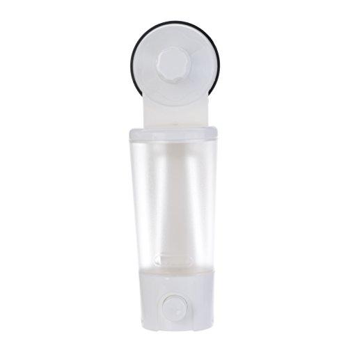 Shenzhendudu Seifenspender aus Kunststoff, Wandmontage ohne Löcher White Single (Transparent)