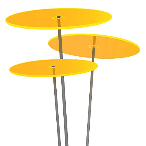 Cazador del Sol ® | tres | 3 Stück Sonnenfänger gelb, Durchmesser 20 cm, 1,75 Meter hoch - das Original