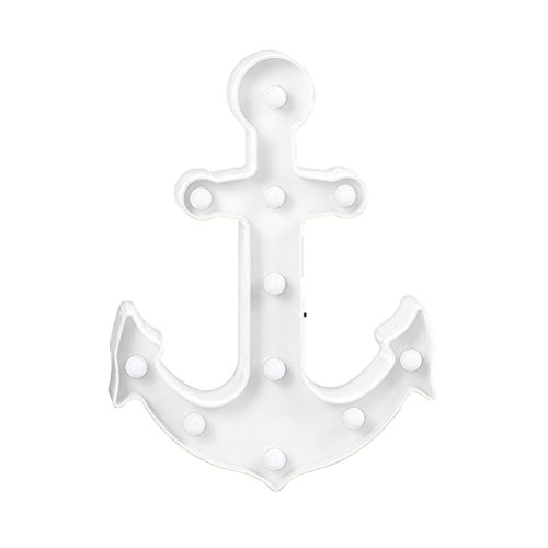 LEDMOMO Boot Anker Nachtlicht dekorative Zeichen Licht-Wand-Dekoration für Wohnzimmer, Schlafzimmer, Haus, Kinder Geschenk