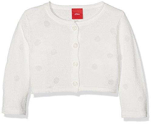 s.Oliver Baby - Mädchen Strickjacke Langarm 65.703.64.8725, Einfarbig, Gr. 92, Weiß (White 0100) -