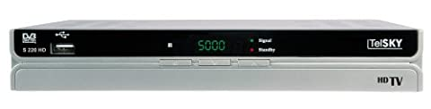 TelSKY S 220 HD digitaler HDTV-Sat-Receiver (HDMI, Scart, USB 2.0, PVR Ready, Time Shift) silber