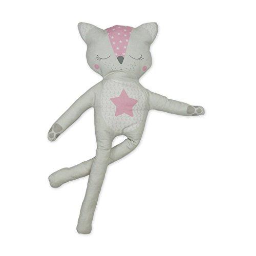 Kit à coudre doudou chat rose en tissu bio. Kit de couture complet. Jeu de loisir créatif pour enfant à partir de 8 ans (Pinkie le chat)