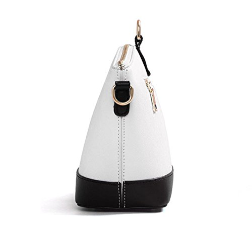 ZPFME Womens Tote Handtasche Mode Shell Umhängetasche Retro Bankett Mode Damen-Tasche Pink