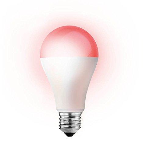 Smartwares Smart Home Pro | E27 Farb LED Lampe, stufenlos einstellbar & dimmbar | Alexa kompatibel & App steuerbar via Basisstation, mehrfarbig
