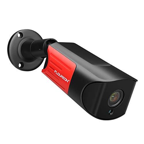 FLOUREON 1440P 4.0MP WLAN Poe IP Kamera HD Bullet Überwachungskamera Außenkamera H.265 IR Nachtsicht Wasserdicht Bewegungserkennung Outdoor Schwarz