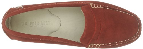 US Polo Assn Burgy 1, Mocassins femme Rouge (Red)