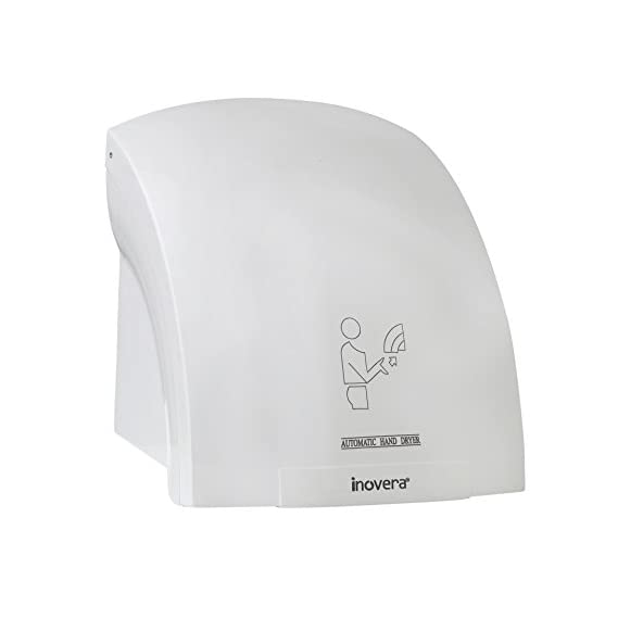 INOVERA (LABEL) Automatic Hand Dryer Infrared Sensor Machine, White