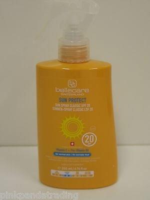 Bellecare SUN PROTECT spray 200ml - vitamine E et b5 spf 20 SUISSE