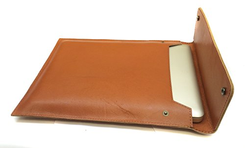 Chalk Factory Genuine Leather Sleeve/ Slipcase for Lenovo E 4080 core i3 5th gen 4GB RAM 500GB HARD DISK DOS Laptop #OR (TAN)