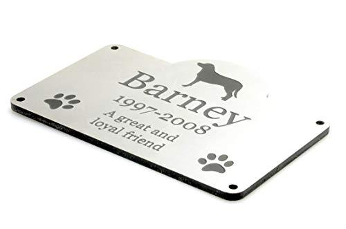 Origin Placa Conmemorativa Personalizada para Perro y Mascota, Resistente al Agua para jardín al Aire Libre