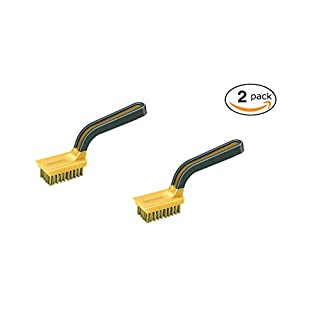 Allway Tools Soft Grip Wide Handle Brass Wire Stripper Brush (2 Pack)