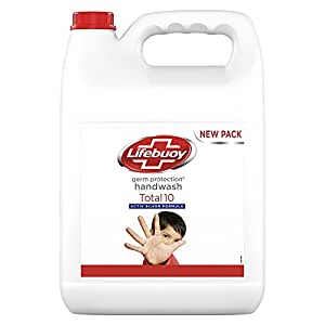 Lifebuoy Total 10 Germ Protection Liquid Handwash, Fights Bacteria & Viruses, Maintains Hand Hygiene, 5 Ltr