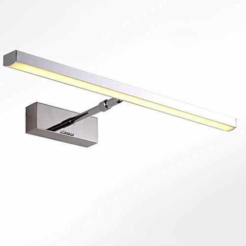 YJD Aluminium Lampenkörper führte Spiegel Scheinwerfer Badezimmer Vanity Spiegel Kabinett Lampe Weiches weißes Licht Badezimmer Wandleuchte,warmes Licht-53cm -