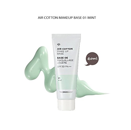The Face Shop Luft Baumwolle Make-up Basis LSF 30 pa ++ (40 ml) # 01 mint