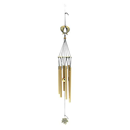 Windspiele DIY Wand Handgemachte Aluminiumrohr Garten Handwerk Tür Hängen Antike Durable Home Decor Kapelle Glocken Anhänger(Fisch) - Durchmesser Übergangs-anhänger