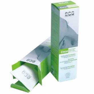 Eco Cosmetics Emulsion démaquillante 3 en 1 Thé vert et Myrte 125ml