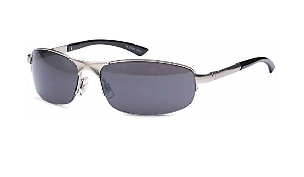 kleine ovale Unisex Sonnenbrille Metallbrille hochwertige Bearbeitung UV400 (silberfarben) gpwU892hZ