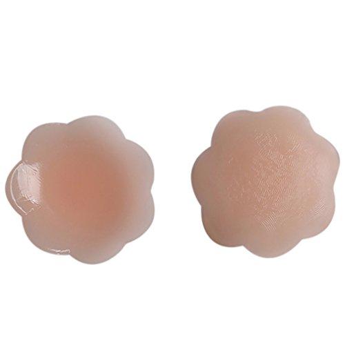 Silikon Nipple-Covers - Brustwarzenabdeckung - Blume/Flower - hautfarben Blickdicht - selbstklebend & wiederverwendbar