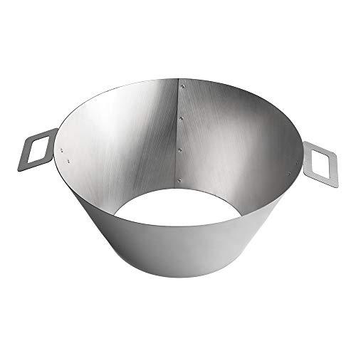 Dracarys BBQ Vortex Weber Hervidor 22 26.75 WSM - BBQ Steel Weber Whirlpool Grill Hervidor - Barbacoa...