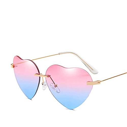 Neue Retro Liebes-Ozean-Stück-Sonnenbrille-Straßen-Schlag-Pfirsich-Herz geformte Sonnenbrille QinMM