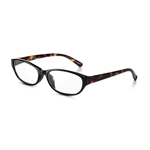 Read Optics +3,5 Dioptrien Damen Katzenaugen Brille: Vintage Lesebrille mit Vollrand aus Polykarbonat-Kunststoff in braunem Schildpatt Design. Mit hochwertigen Gläsern, leicht, bequem und doch stabil