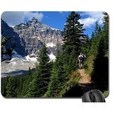 Hiking The Canadian Rockies Mouse Pad, Mousepad (Mountains Mouse Pad)