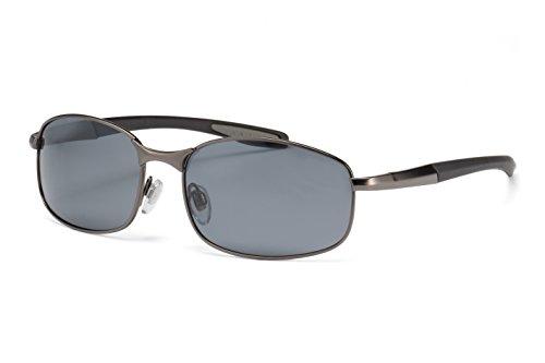 Filtral Polarisierte Sonnenbrille   Sportliche Metall-Sonnenbrille für Herren in Anthrazit mit Federbügelscharnier F3020907