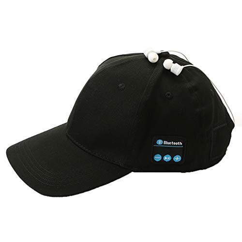 ZYX Drahtlose Bluetooth Hat Smart Voice Outdoor Sport Baseball Kappe Kopfhörer Nennen Music Cap Multi Funktion Cap Casual Wild Multi Color Waschen Schnell Trocknen,Black