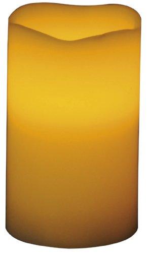 Beco 882.00 - Lámpara LED con forma de vela (7,6 x 12.7 cm, incluye 3 pilas AAA), color naranja