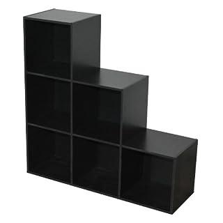 Alsapan Shelving Unit, Wood, black, 30x 93x 93cm