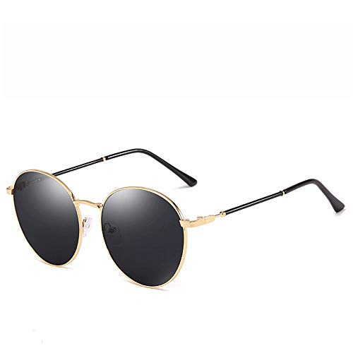 Yiph-Sunglass Sonnenbrillen Mode Polarisierte Sport Aviator Sonnenbrillen für Männer oder Frauen 100% UVA/UVB Objektiv Sonnenbrillen (Farbe : Schwarz, Größe : Casual Size)