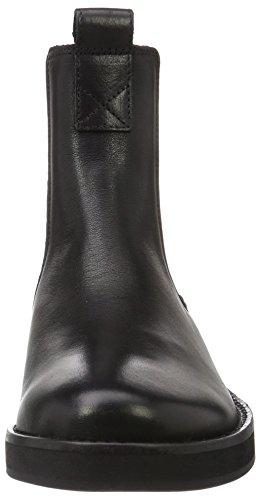 Shabbies Amsterdam Shabbies 3,5cm Heel Sole Black 14cm Chelsea Booty Farah, Bottes Classiques femme Noir - Noir