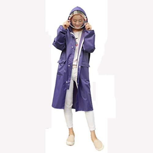 Yuany Regenmantel Erwachsene Wandern koreanische Mode Männer und Frauen Regenmantel Langen Mantel Lange Outdoor-Reise Regenmantel (Farbe: D-XXXL)
