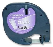 LABEL, TAPE, PLASTIC, CLEAR, 12MMX4M S0721530 By DYMO
