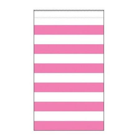 Medium rosa gestreift Papier Behandeln Taschen 12Stück Kleine Rosa Behandeln Taschen