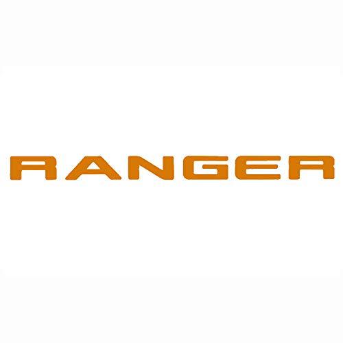 Ranger Gitter Oben Logo Brief 3D Emblem Originalgröße ABS Aufkleber Chrom Styling mit Klebstoff, Orange (Emblem Xlt Ford)