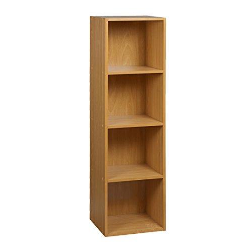 Top Home Solutions Libreria in legno a 4ripiani portaoggetti a ripiani