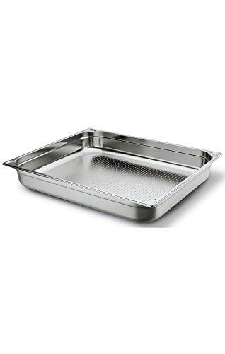 GN 2 1 Gastronomie Behälter 18/10 Edelstahl Gastronorm Behälter Perforiert 7L 25mm Tiefe Edelstahl Fagor GNPK2125