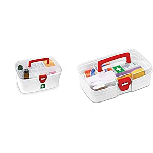 Milton Medical Box & First Aid Box, 1 Piece, White Combo