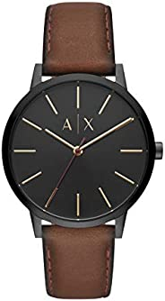 A|X Armani Exchange Men's Armani Exchange Cayde Stainless Steel Analog Quartz Watch With Leather Strap Bro