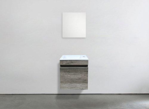 Accessori Bagno Marrone : Starbath set mobile bagno sospeso mdf marrone lavabo
