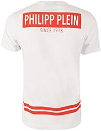 72e870d097241 Philipp Plein Homme MTK0973PJY002N01 Blanc Coton T-Shirt