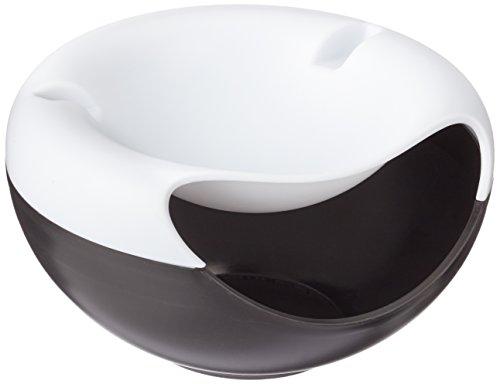 Rukauf - Cuenco blanco y negro para tentempiés