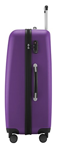 HAUPTSTADTKOFFER - Wedding - Großer Hartschalen-Koffer Koffer Trolley Rollkoffer Reisekoffer Spinner, 4 Rollen, TSA, 75 cm, 103 Liter, violett - 4