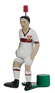 Consejo de Kick 000267-VfB Star de futbolín en Caja de Metal, Color Blanco