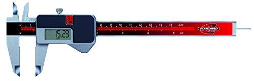 Standard N-Gage 00534003electrónica Calibre Vernier (con Automatismo Rueda, 0mm-150mm, resolución 0.01mm/0.0005pulgadas
